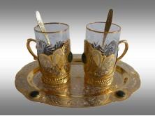 Набор чайный на овальном подносе